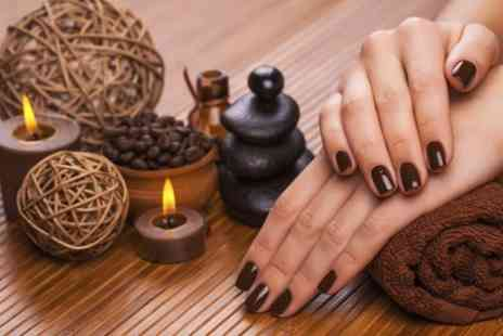 Funky Fingers by Max - Shellac Manicure or Pedicure - Save 46%