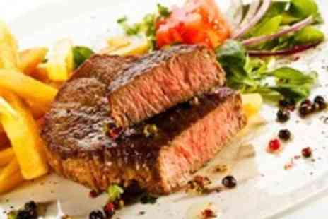 The Old Steps -  8oz rib eye steak & chips plus starter or dessert for two - Save 50%