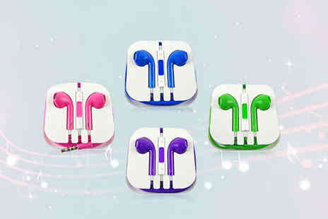 NiftySpot - Pair of Earphones with Built In Mic, Remote, and Volume Control  - Save 75%