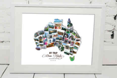 Treasure on the Wall - Personalised Destination Collage Including Delivery - Save 62%