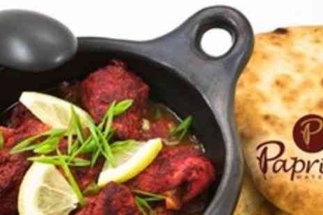 Paprika Watermead Indian Restaurant - Two Course Indian Meal For Two - Save 63%
