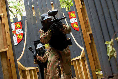 Allied Paintball - Paintballing Day for Ten People with 100 Paintballs, Light Lunch, and Tea or Coffee - Save 95%