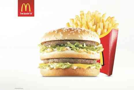McDonalds  - Sandwich and Fries  - Save 50%