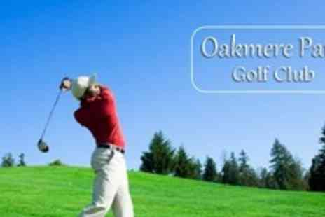 Oakmere Park Golf Club - 18 Hole Round of Golf For Two With Trolley Hire and 96 Driving Range Balls - Save 65%