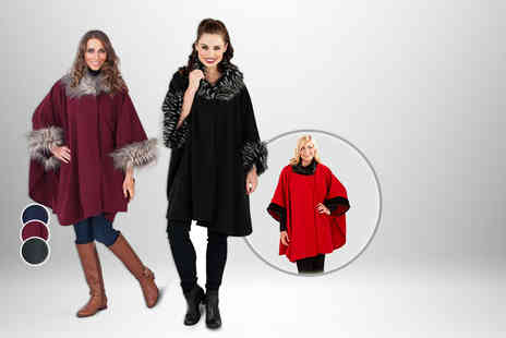Kurt Muller - Faux fur cape in a choice of 3 designs - Save 63%