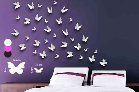 Wallplus  - Set of 36 butterfly wall stickers - Save 73%