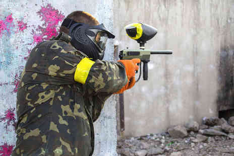 Skirmish Paintball Games - Full Day of Paintballing with Light Lunch and 100 Paintballs for Two - Save 86%
