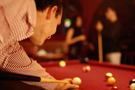 Cue Gardens - Meal and Two Hours of Snooker or Pool for Two - Save 59%