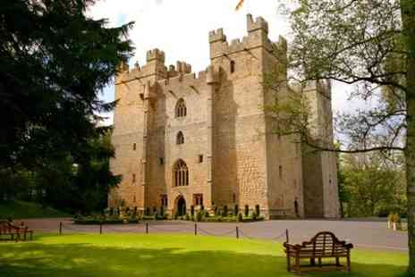 Langley Castle Hotel -  One Night stay For Two With Tea and Battlements Tour  - Save 49%