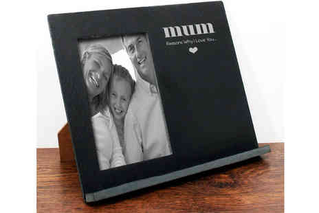 Treat Republic - Reasons Why I Love You Personalised Slate Message Frame - Save 46%