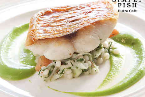 Simply Fish - Starter, Main, and Bellini Cocktail for Two - Save 56%