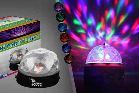 Planet of Toys -  Rotating Multicolour Disco Party Light  - Save 80%