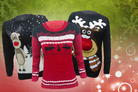 MYO Fashion - Christmas jumper in a choice of 5 designs - Save 70%