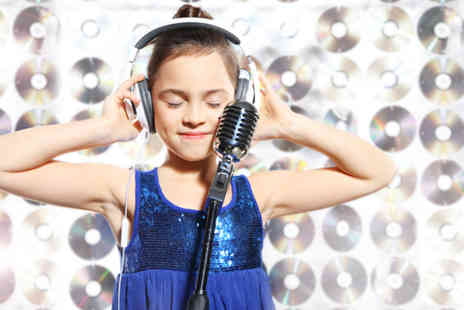 Studio Megastar - Childrens pop star party for up to 10 children including a DVD each - Save 83%