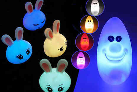 Rabbit and Moon - Two Baby Moonlight Lamps in Rabbit and Moon Design - Save 65%