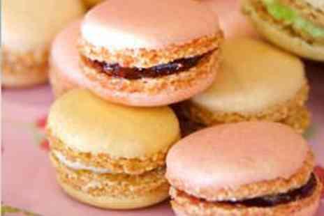 Cake Boy - 12 Mini French Macaroons and Champagne for Two - Save 52%