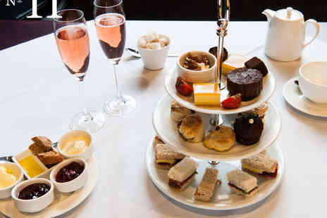 No 11 Brunswick - Afternoon Tea for Two with a Glass of Sparkling Wine Each - Save 63%