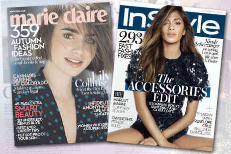 Marie Claire Magazine - 12 Month Subscription to Marie Claire or InStyle - Save 70%