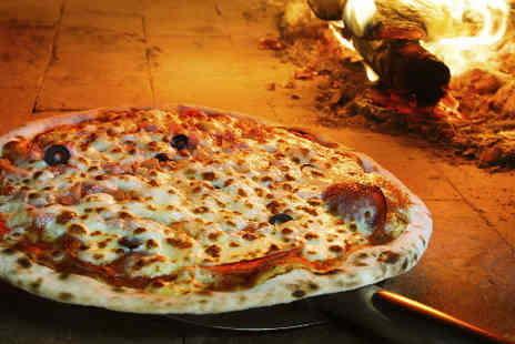 Gusto Italia - Two stone baked pizzas and a drink each - Save 50%