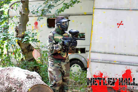 Netley  Hall Paintball - All Day Paintball Session with 100 Paintballs and Lunch - Save 93%