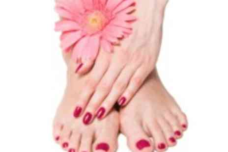Talk Of The Town Beauty Salon - Gelax manicure & pedicure - Save 50%
