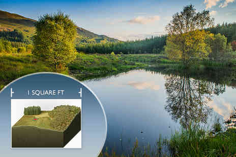 Highland Titles - One square foot of land in Scotland  - Save 50%