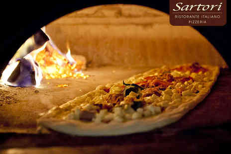 Sartori Ristorante Italiano -  Metre Pizza for Two to Share with Glass of Wine Each - Save 49%