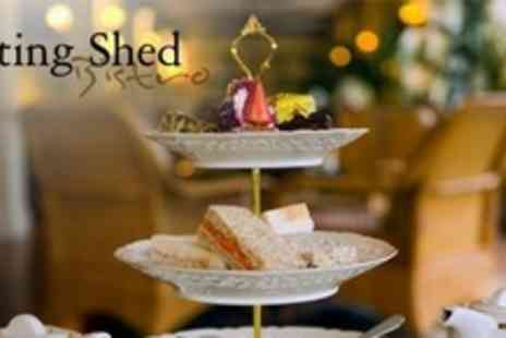 The Potting Shed Bistro - £9 Afternoon Tea For Two With Sandwiches Pastries, and Desserts - Save 53%