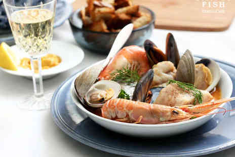 Simply Fish - Four Seafood Tapas Dishes to Share Between Two with Glass of Wine Each - Save 57%