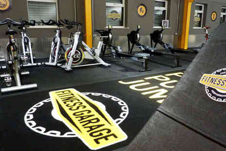 Fitness Garage - Ten Gym Passes or Autumn Pamper Package, with a Massage, Hair Wash and Blow Dry, and Manicure - Save 80%
