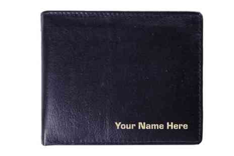 Cute Cow - Personalised Mens Leather Wallet  - Save 62%