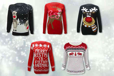 Festive Fashion - Ladies Christmas Jumper in Choice of Styles - Save 70%