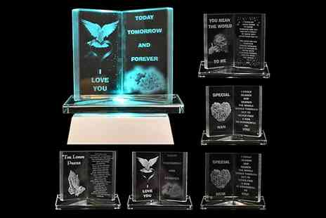 toolcollectionuk direkt2publik - LED Engraved Glass Crystal Ornaments in a Range of Designs - Save 47%