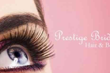 Prestige Bridal Hair & Beauty - Full Set of Natural Look Semi Permanent Eyelashes - Save 70%
