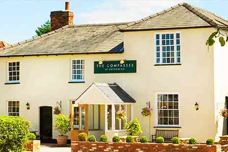 The Compasses Inn  - Hearty 2 Course Meal & Bubbly for 2  - Save 43%