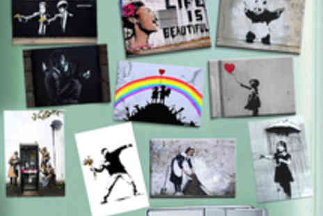 Canvas Town - Banksy Street Art 10 Piece Magnet Set - Save 50%