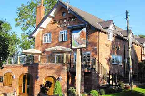 The Dusty Miller - Dinner for 2 & Bubbly - Save 46%