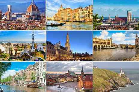 iFly Holidays - Two night stay for two in a mystery European city with flights - Save 51%