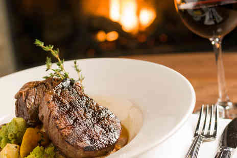 The Old Volunteer - Traditional Steak Dining for Two with Wine - Save 52%