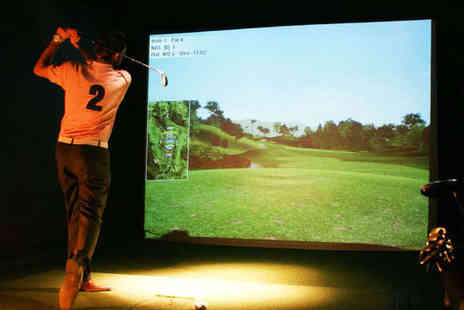 Golf Bar Leeds - Hour Long Golf Simulation Experience with Pizza for Four - Save 62%