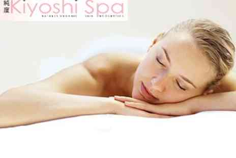 Kiyoshi Spa - £25 Sea Salt Back Scrub with Hot Towels and Hot Stone Back, Neck and Shoulder Ritual - Save 62%