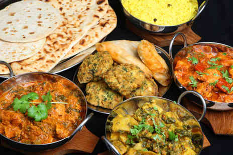 Chilli Pot - Two-Course Indian Meal with Poppadoms Starter, Main Two Sides Each, and a Glass of Wine or a Beer Each for Two - Save 56%