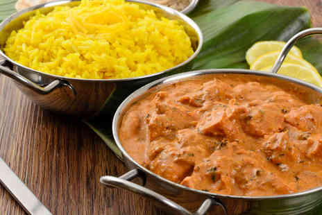 The Shimla Palace - Starter, Main Course, Rice or Naan, and Wine for Two - Save 57%