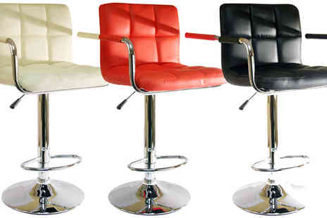 toolcollectionuk direkt2publik - 2 Faux Leather Bar Stools in a Range of Designs - Save 55%