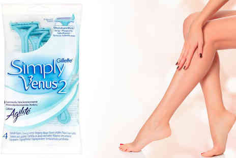 Health Pharm - 28 Simply Venus Disposable Razors with Moist Strip - Save 29%