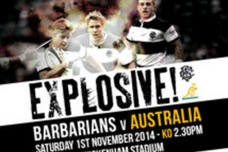 International Sports Investments - Barbarians v Australia Rugby Match  - Save 8%