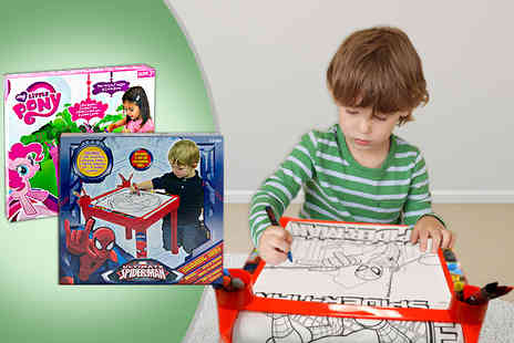Wallpaper Murals - My Little Pony or Spiderman activity colouring table - Save 50%
