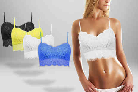 DFashion - Lace bralet crop top in a choice of four colours  - Save 50%