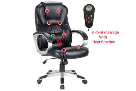 catch 22 - Eight Point Heated Office Chair - Save 51%