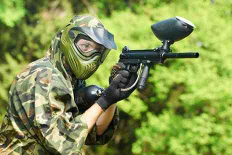 Skirmish Paintball - Paintballing day for up to 5 people  100 balls each - Save 92%
